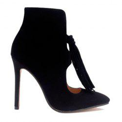 Tassels Stiletto Heel Hollow Out Ankle Boots