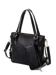 Embossing Flower Pattern Metal Shoulder Bag