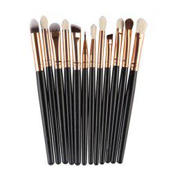 12 Pcs Goat Hair Eye Makeup Brush Set - BLACK