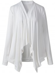 Asymmetrical Ruched Thin Outerwear -