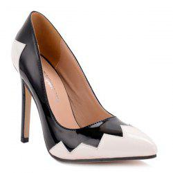 Stiletto Heel Color Block Point Toe Pumps