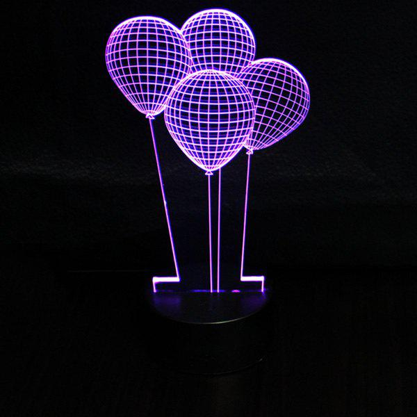 Shops 3D Colorful Balloon Shape Touching Ombre Night Light