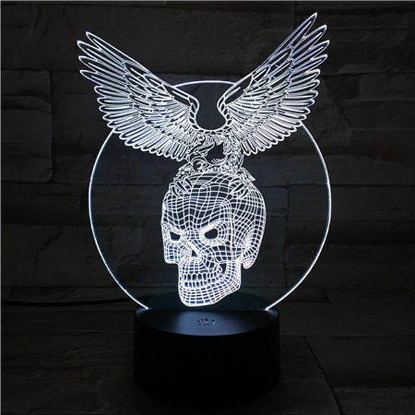 3D Visual Touching Hawk Skull Shape Ombre Night LightHOME<br><br>Color: COLORFUL; Style: Modern/Contemporary; Categories: Light; Material: Other; Weight: 0.422kg; Package Contents: 1 x Night Light( Set);