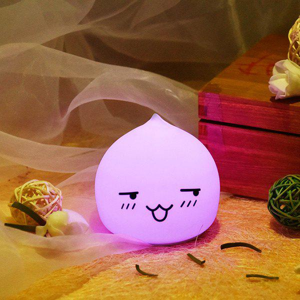 Colorful LED Waterdrop Emoticon Cartoon Ombre Night LightHOME<br><br>Color: COLORFUL; Style: Modern/Contemporary; Categories: Light; Material: Plastic,Silica Gel; Power (W): 0.6W; Size(CM): 9.5*9.5*9.5; Weight: 0.2200kg; Package Contents: 1 x Night Light;