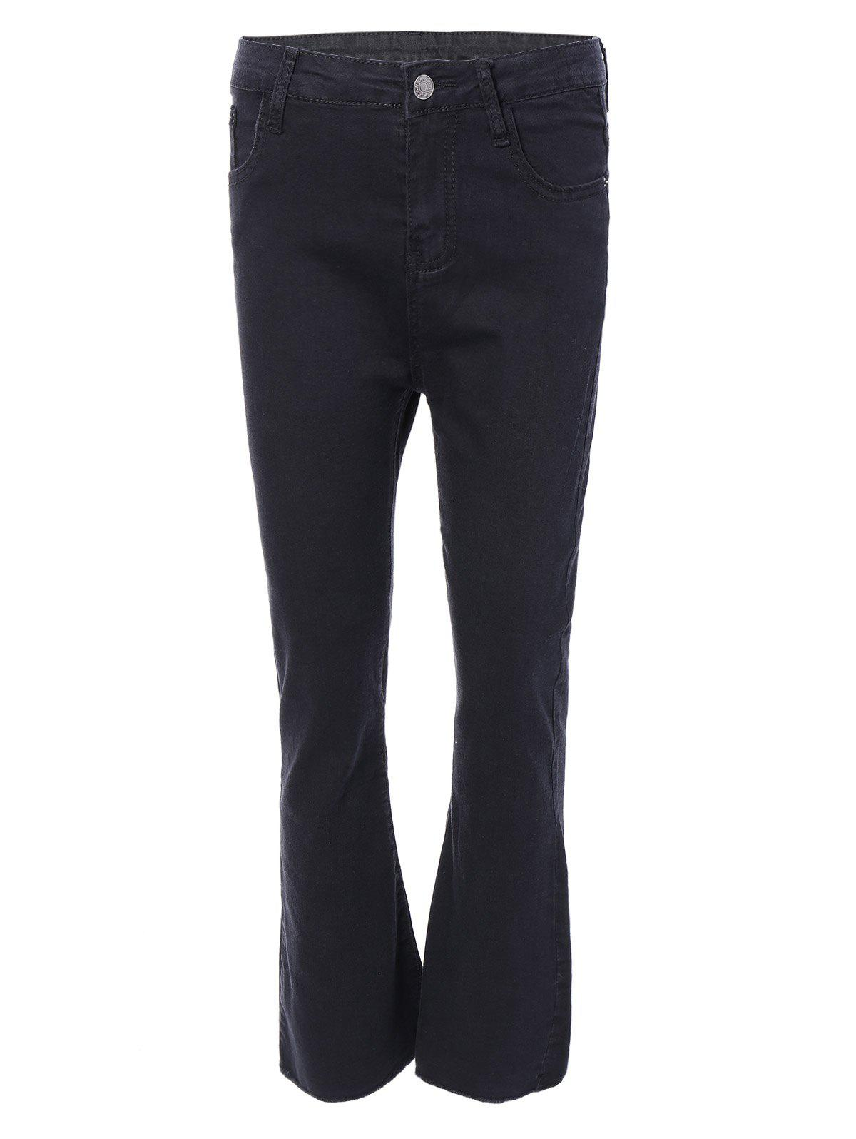 Chic Zippered Bootcut Jeans