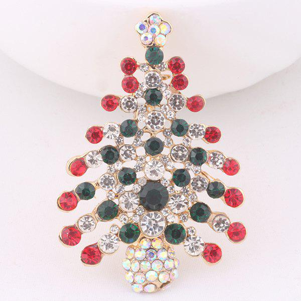 Christmas Trees BroochJEWELRY<br><br>Color: COLORFUL; Brooch Type: Brooch; Gender: For Women; Material: Rhinestone; Metal Type: Alloy; Style: Trendy; Shape/Pattern: Plant; Weight: 0.039kg; Package Contents: 1 x Brooch;