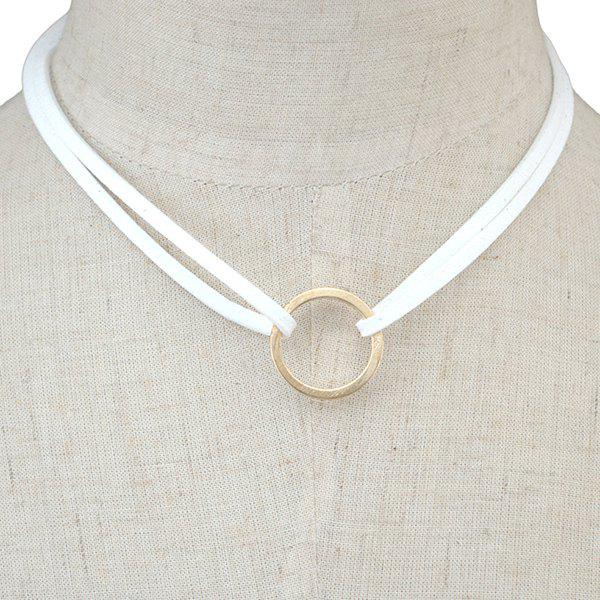 Latest Circle Faux Leather Layered Necklace