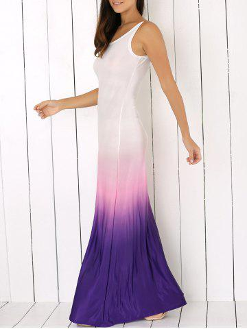 Shops Scoop Neck Sleeveless Ombre Casual Maxi Dress