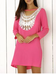 Lace Splicing Hollow Out Double-Wear Dress -