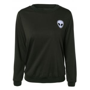 Skull Print Long Sleeve Sweatshirt