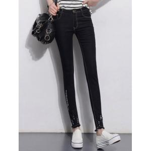 Slimming Skinny Jeans - Black - 30
