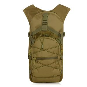 Mesh Spliced Elastic Band Backpack - Khaki