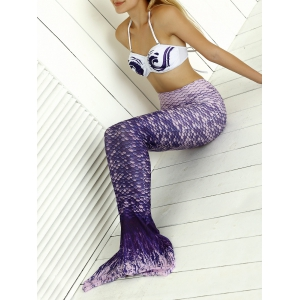 Halter Bikini Top Mermaid Tail Two Piece Swimsuit