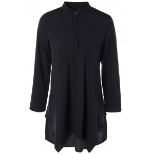 Asymmetric Long Sleeves Blouse