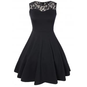 Sleeveless Lace A Line Party Skater Dress