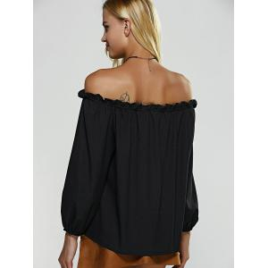 Off The Shouler Long Sleeve Blouse -