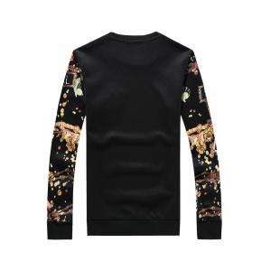 3D Print Crew Neck Long Sleeve Sweatshirt -