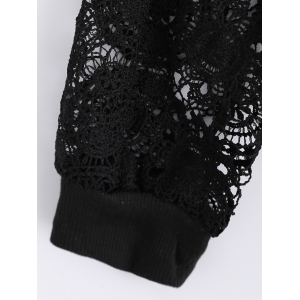 Lace Patchwork Hollow Out Sweatshirt -