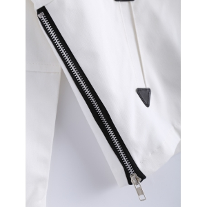 Hooded Zipper Patched Jacket -