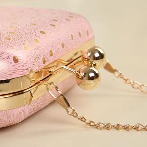 Elegant Kiss Lock Closure and Chain Strap Design Evening Bag For Women -