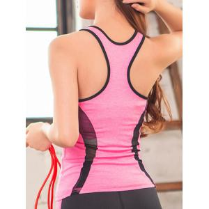 Mesh Spliced Racerback Padded Running Vest -