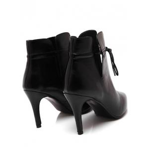 Pointed Toe Stiletto Heel Tip Up Boots -