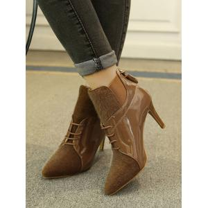 Elastic Band Splicing Tassels Ankle Boots -