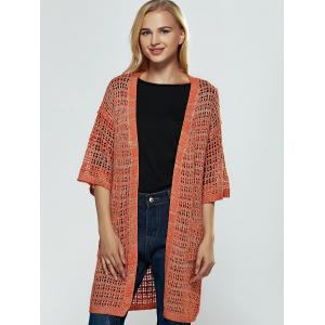 Brief Women's Hollow Out Knitted Cardigan -