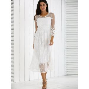 Guipure Mesh Party Laciness Dress -