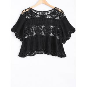 Lace Crochet See-Through Blouse -