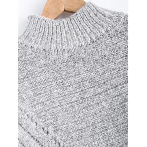 Drop Shoulder Textured Long Sweater -