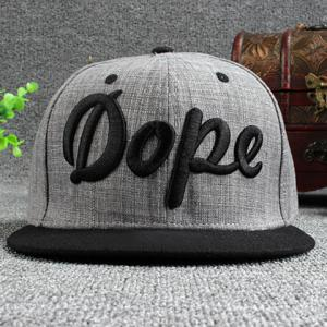Stylish Hollow Out Stereo Letters Embroidery Baseball Cap For Men -