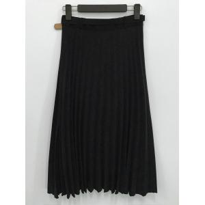 Belted Pleated Skirt -