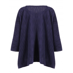 Batwing Sleeve Loose-Fitting Texture Knitwear -