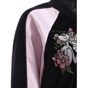 Flower Embroidery Long Sleeve Jacket -