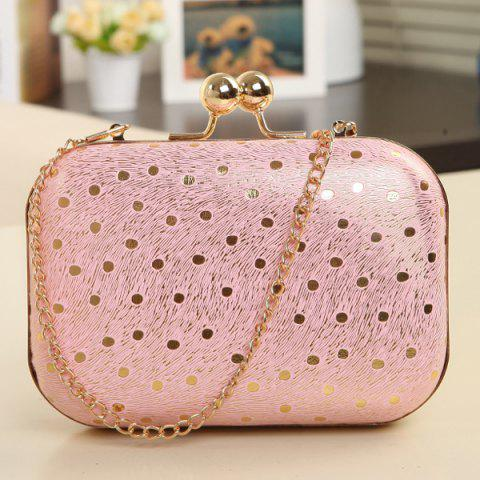 Discount Elegant Kiss Lock Closure and Chain Strap Design Evening Bag For Women