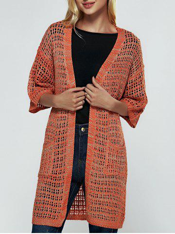 Fashion Brief Women's Hollow Out Knitted Cardigan