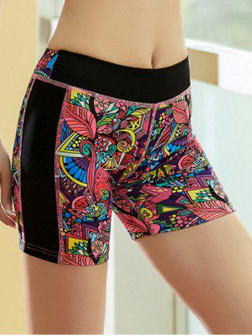 Outfit Printed Quick Dry Sporty Running Shorts - M RED Mobile