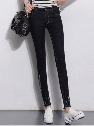 Fancy Slimming Skinny Jeans BLACK 30
