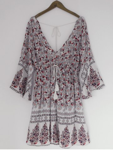 Fashion Bohemian Paisley Printing Dress
