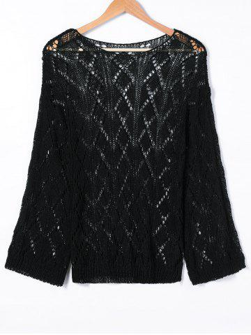 Outfit Ripped Long Sleeve Knitwear