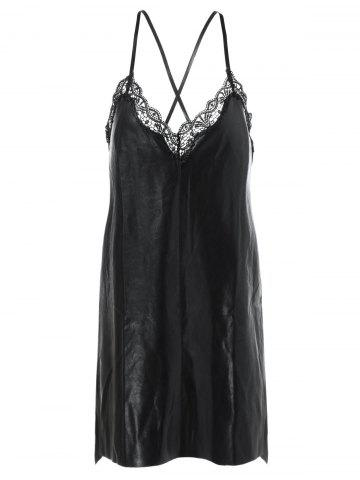 Fancy Embroidery Lace Crossback Cami Dress