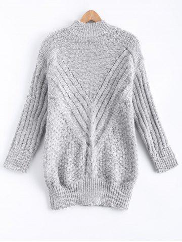 Trendy Drop Shoulder Textured Long Sweater