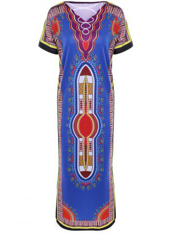 Cheap Ethnic Style Printed Maxi Dress
