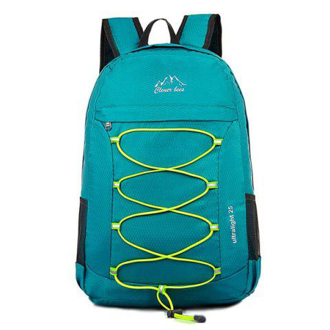 Zippers Nylon Cross Straps Backpack