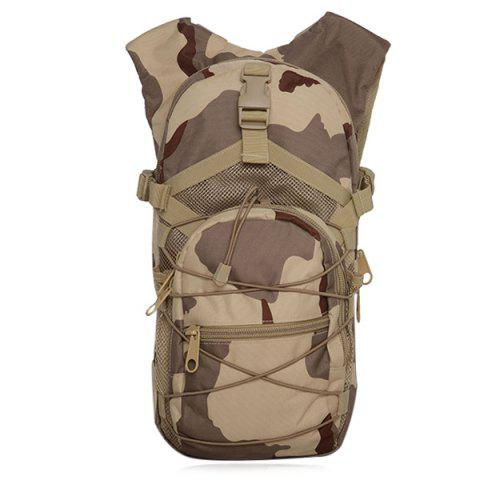 Buy Camouflage Print Mesh Splicing Backpack - Three Sand