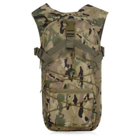Buy Camouflage Print Mesh Splicing Backpack - Cp