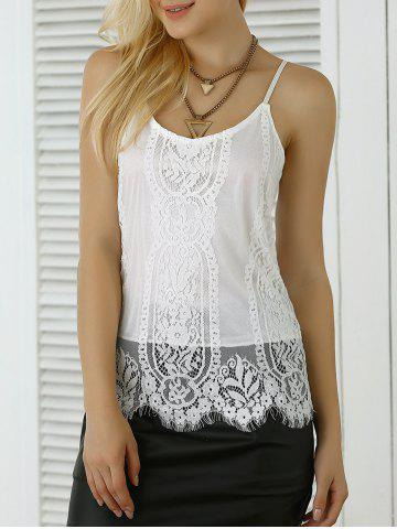 Outfit Scalloped Lace Trim Tank Top