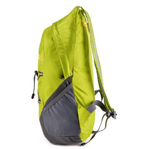 Unique Zippers Color Splicing Cross Straps Backpack - CELADON  Mobile