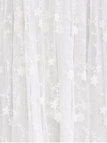 Best Guipure Mesh Party Laciness Dress - L WHITE Mobile